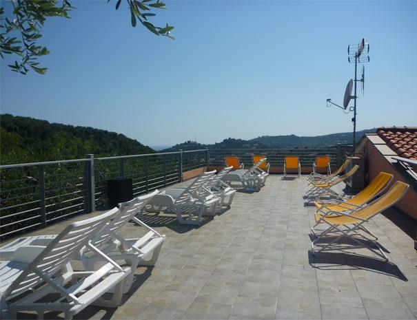 Terrasse solarium | Services du Villaggio Borgoverde à Imperia