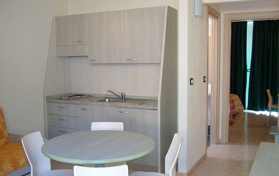 Holiday apartments for 2-6 people: living area | Villaggio Borgoverde Imperia